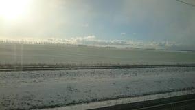 Nieve en el invierno Imagen de archivo