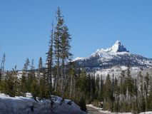 Nieve en el Mt dentado washington imagen de archivo libre de regalías