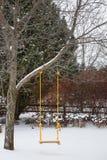 Nieve en el oscilación Fotografía de archivo libre de regalías