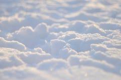 nieve en el sol en la puesta del sol Imagenes de archivo