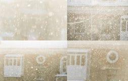 Nieve en fondo borroso Foto de archivo libre de regalías