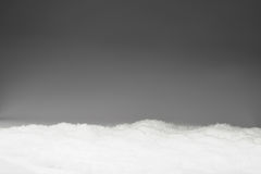 Nieve en fondo gris Imagen de archivo