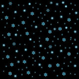 Nieve en fondo negro ilustración del vector