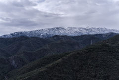 Nieve en Istan Imagen de archivo