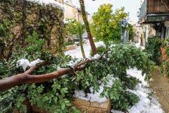 Nieve en Jerusalén Fotografía de archivo libre de regalías