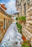 Nieve en Jerusalén Imágenes de archivo libres de regalías