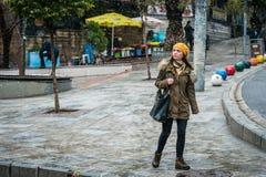 Nieve en Kadikoy, Estambul Imagen de archivo libre de regalías