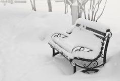 Nieve en la calle Fotografía de archivo libre de regalías