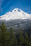 Nieve en la capilla del Mt., Oregon Imagen de archivo