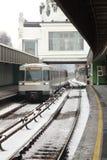 Nieve en la estación de metro Imagen de archivo