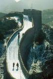Nieve en la Gran Muralla Fotos de archivo libres de regalías