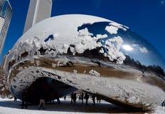 Nieve en la haba Imágenes de archivo libres de regalías