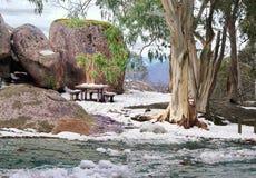 Nieve en la montaña Imagen de archivo libre de regalías