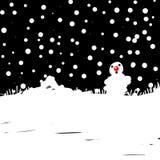 Nieve en la noche de la Navidad Fotos de archivo