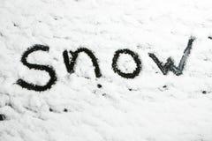 Nieve en la obscuridad Imagenes de archivo