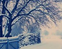 Nieve en las cercanías del pueblo Fotografía de archivo