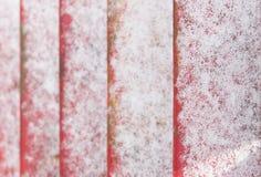 Nieve en las escaleras Imágenes de archivo libres de regalías
