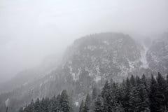 Nieve en las montañas Imágenes de archivo libres de regalías
