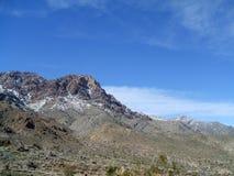 Nieve en las montañas del desierto Fotografía de archivo