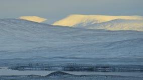 Nieve en las montañas escocesas Fotografía de archivo libre de regalías