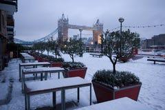 Nieve en Londres Imagen de archivo libre de regalías