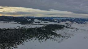 Nieve en Montana Foto de archivo libre de regalías
