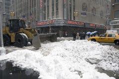 Nieve en Nueva York Fotografía de archivo libre de regalías