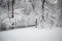 Nieve en Nueva York Imagenes de archivo