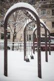 Nieve en Nueva York Imagen de archivo