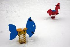 Nieve en parque Imagen de archivo