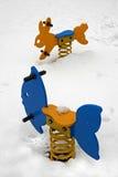 Nieve en parque Fotos de archivo libres de regalías