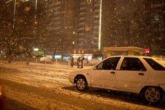 Nieve en Pekín, China Imágenes de archivo libres de regalías
