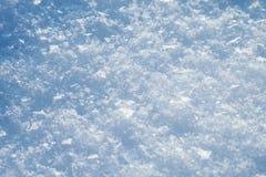 Nieve en primer del invierno Imagen macra de copos de nieve, backg del invierno imagen de archivo libre de regalías