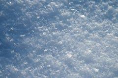 Nieve en primer del invierno Imagen macra de copos de nieve, backg del invierno imagenes de archivo