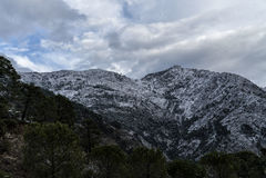 Nieve en Ronda Imágenes de archivo libres de regalías