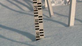 Nieve en Rusia en invierno almacen de video