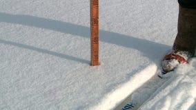 Nieve en Rusia en invierno metrajes
