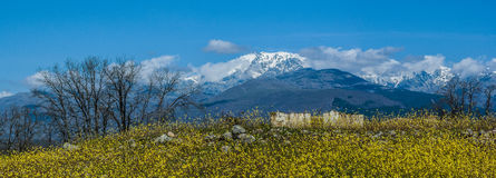 Nieve en Sierra de Gredos Imagen de archivo libre de regalías