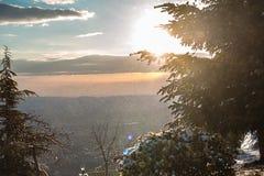 Nieve en Tirana Foto de archivo libre de regalías
