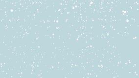 Nieve en un fondo azul Nieve que cae en azul stock de ilustración