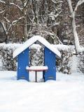 Nieve en un patio Fotos de archivo