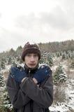 Nieve fría del invierno Fotografía de archivo
