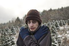 Nieve fría del invierno Fotos de archivo libres de regalías