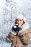 Nieve fría y sueños calientes Imágenes de archivo libres de regalías