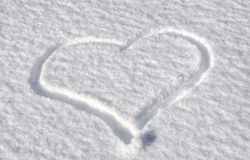 Nieve fresca Foto de archivo
