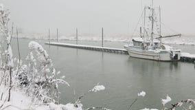Nieve fresca de Steveston de la charca escocesa metrajes