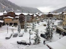 Nieve fresca en la estación de esquí de los sunpeaks fotografía de archivo libre de regalías