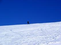 Nieve-Frontera Imagen de archivo
