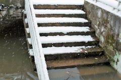 Nieve, lluvia y aguas fangosas Fotografía de archivo libre de regalías