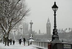 Nieve Londres Foto de archivo libre de regalías